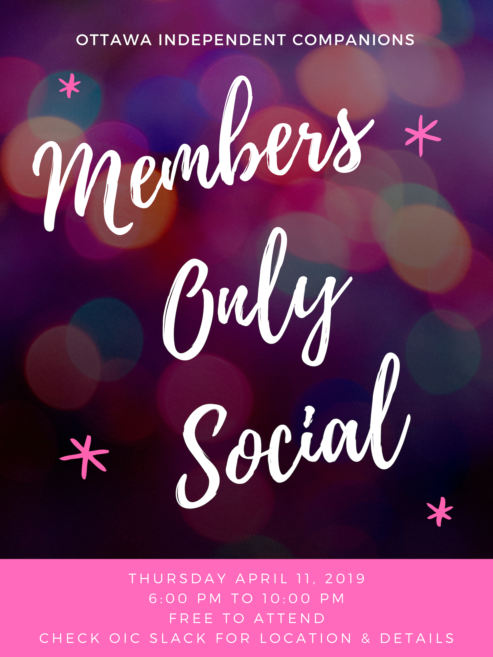 OIC Members Only Social